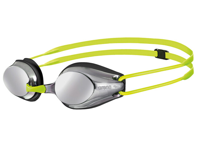 arena Tracks Jr Mirror Goggles Juniors silver-black-fluoyellow